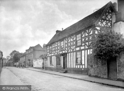Droitwich Spa, Old Priory House And Friar Street 1931