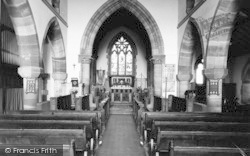 Droitwich Spa, St Nicholas Church Interior c.1960