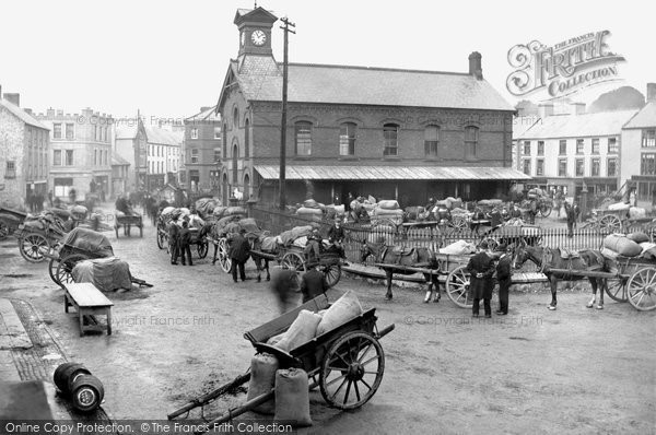 Photo of Dromore, Market Day c.1900