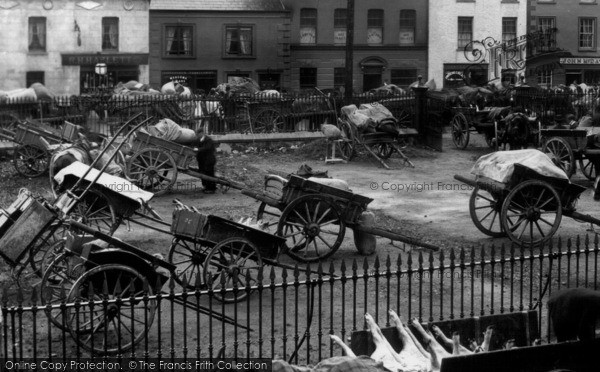Photo of Dromore, Market Day, Carts 1904