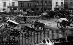 Dromore, Market Day, Carts 1904