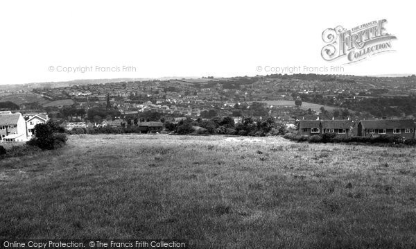 Dronfield, from the Hiltop c1965