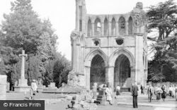 Dryburgh, The Abbey c.1955