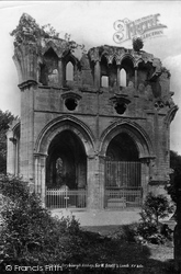 Dryburgh, The Abbey, Sir Walter Scott's Tomb 1897