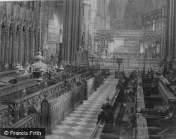 Dublin, Christchurch Cathedral, Choir Aisle c.1871