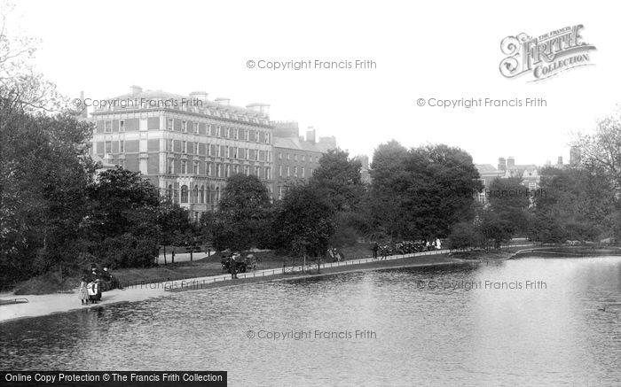 Photo of Dublin, Shelbourne Hotel From The Lake 1897