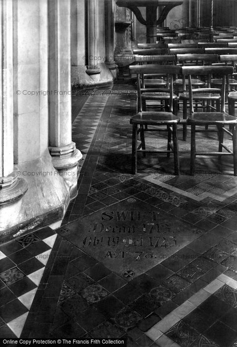 Photo of Dublin, St Patrick's Cathedral, Dean Swift Tablet 1897