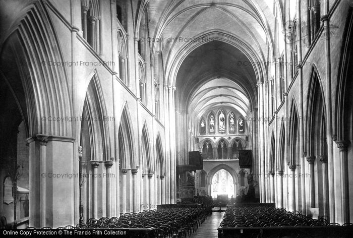 Photo of Dublin, St Patrick's Cathedral, Nave East 1890