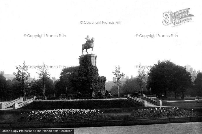 Photo of Dublin, St Stephen's Green, The George II Statue 1897