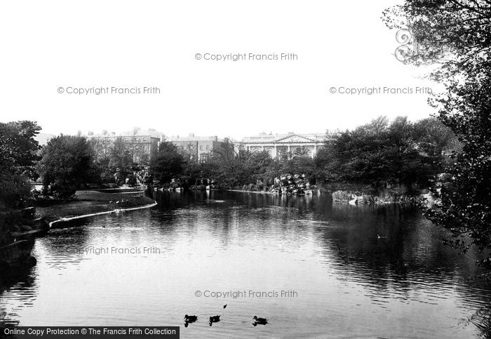 Photo of Dublin, St Stephen's Green, The Lake And The College 1897