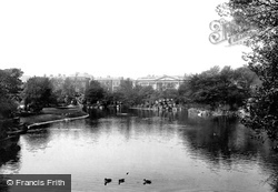 Dublin, St Stephen's Green, The Lake And The College 1897