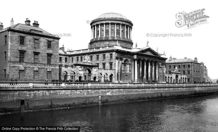 Photo of Dublin, The Four Courts 1897