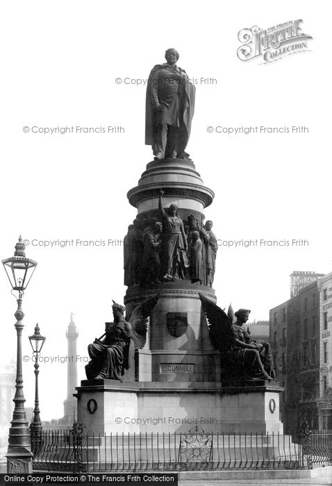 Photo of Dublin, The O'connell Monument 1897