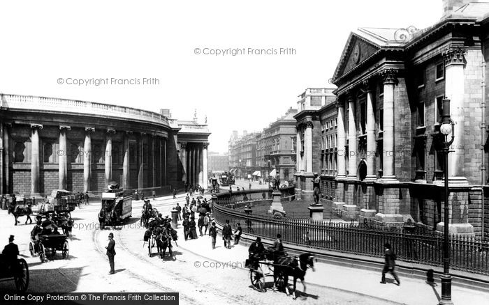 Photo of Dublin, Trinity College And The Bank Of Ireland 1897