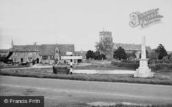 The Church And War Memorial c.1950, Ducklington