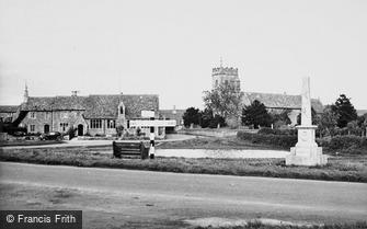 Ducklington, the Church and War Memorial c1950