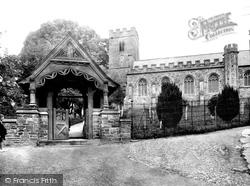 Dulverton, All Saints' Church And Lychgate 1934