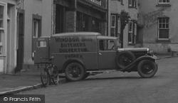 Dulverton, Butcher's Van 1937