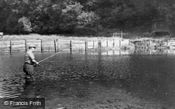 Dulverton, Salmon Fishing At Black Pool c.1960
