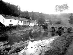 Dulverton, The River Barle 1934