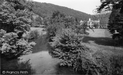 Dulverton, The River Barle From The Bridge c.1960