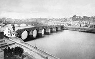 Dumfries, the Old and New Bridges c1890