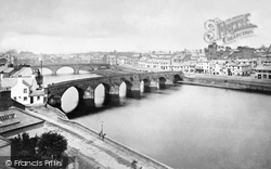 The Old And New Bridges c.1880, Dumfries