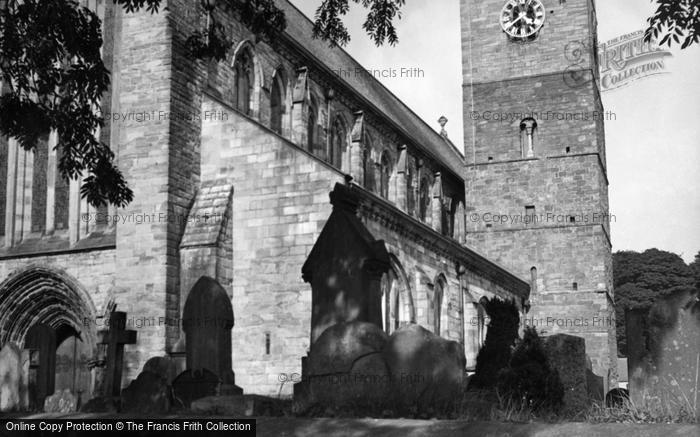 Photo of Dunblane, Cathedral, Two Tone Clock Tower c.1955