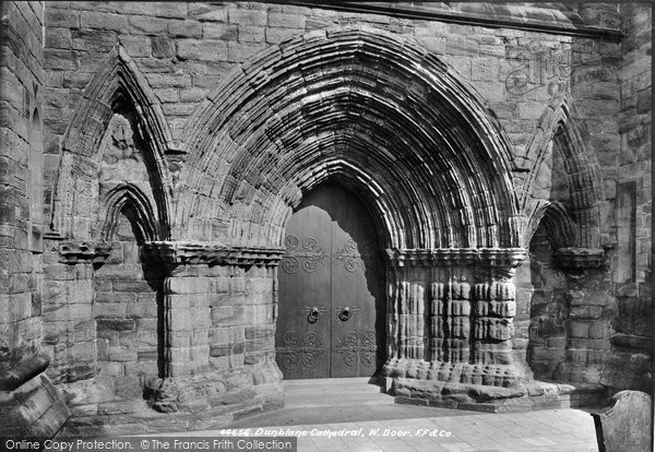 Photo of Dunblane, Cathedral, West Door 1899