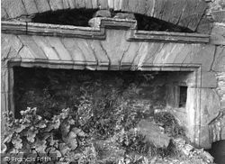 Powrie Castle, Old Fireplace 1957, Dundee