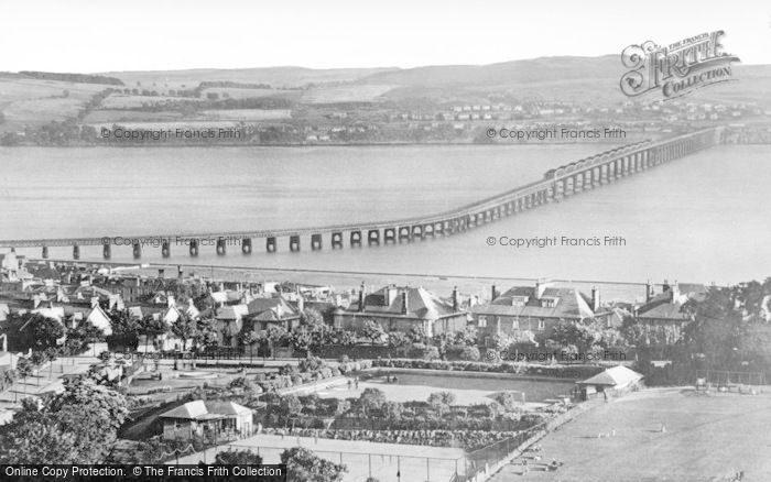 Dundee, The Tay Bridge And Hills Of Fife From Balgay Hill c.1945