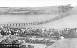 The Tay Bridge And Hills Of Fife From Balgay Hill c.1945, Dundee