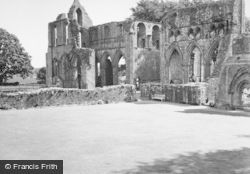 Abbey, Transepts And Chapter House Walls 1951, Dundrennan