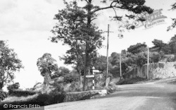 Dundry, The Fork Roads Or Hairpin Bend c.1960