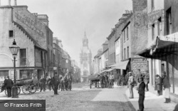 High Street, City Chambers And Town Clock 1901, Dunfermline