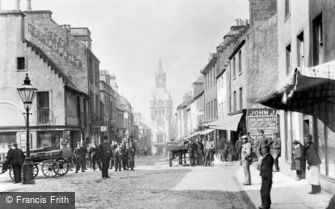Dunfermline, High Street, City Chambers and Town Clock 1901