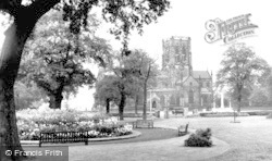 Dunham Massey, Garden Of Remembrance And St Margaret's Church c.1955