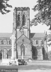 Dunham Massey, War Memorial And St Margaret's Church c.1955