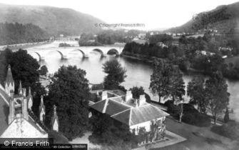 Dunkeld, House and Bridge c1890