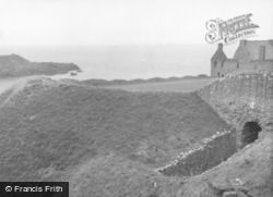 Dunnottar, Castle Gateway Tunnel And Sea 1960