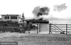 A Steamer At The Pier c.1955, Dunoon