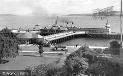 Dunoon, The Pier From The Park c.1950