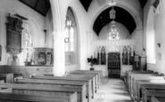 Dunsford, Church interior c1960