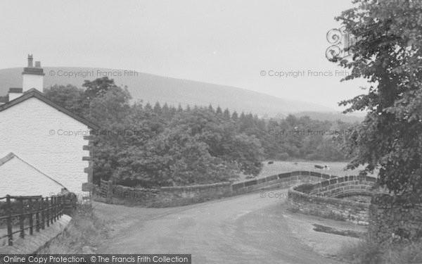 Photo of Dunsop Bridge, The Village c.1955