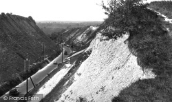 Dunstable, Chalk Hill Cutting c.1930