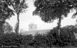 Dunstable, Priory Church From Meadows 1897