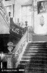 Dunster, Castle, Staircase 1892