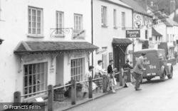 Dunster, Crossing High Street c.1960