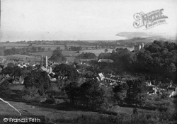 Dunster, From Grabhurst 1888