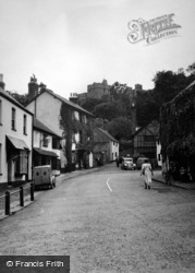 Dunster, High Street And Castle 1950